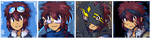 Daisuke pixel icons by adventure-heart