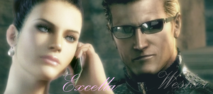 Wesker and Excella 2 by AlbertXExcellaLover