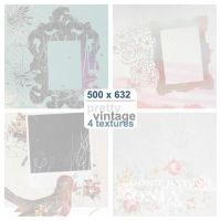 Four 500x362 Textures by pretty-vintage