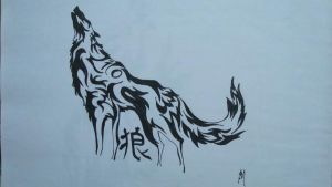 wolF with KanJi 1 by shades-of-life