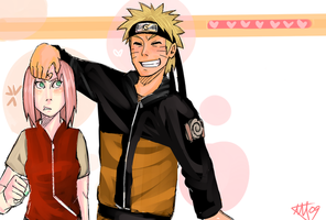 NaruSaku . Shorty by starchiishio