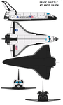 Space shuttle Atlantis OV-104 by bagera3005