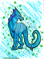 OLD Water Dragon by Spazmatastic