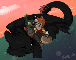 Toothless is a QT by Pika-Pika-Pikahu