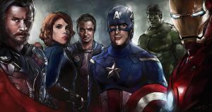 Avengers Assemble color study by novicekid