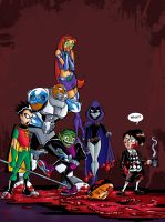 Teen Titans/Umbrella Academy by Theamat