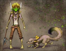 Inay, Motilones warrior and hunter by curlyhair
