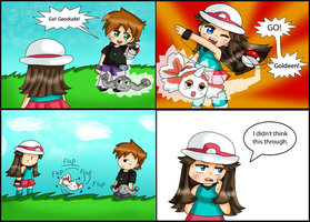 PKMN comic: beached by purplemagechan