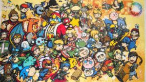 Super Smash Brothers Brawl cross stitch by Anim-Soul