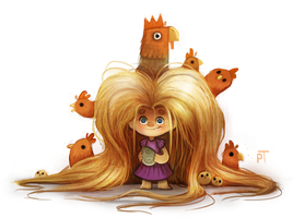 DAY 492. Sketch Dailies Challenge - Rapunzel by Cryptid-Creations