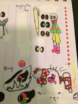 Highlighter Pen and Bling Reference Sheet by CookiesAndCreamMC