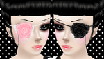 Rose Eye Patches by theonlyguttersnipe
