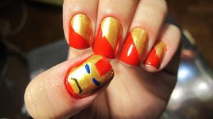 Iron Man Nails by tharesek