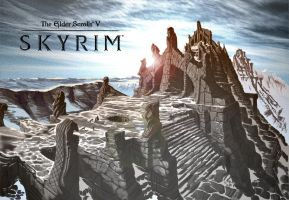 Skyrim Desktop Backgrounds by CTWTF