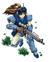 GM Sniper II Girl Coloured by RyujinDX