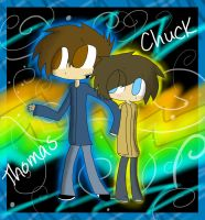Thomas and Chuck by KaziaBlaze