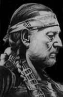Willie Nelson by monstarart