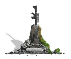 Gun in the stone by Swaptrick
