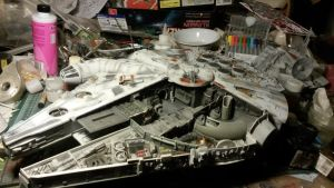 Millenium Falcon Cut-away build 2 by THE-WHITE-TIGER