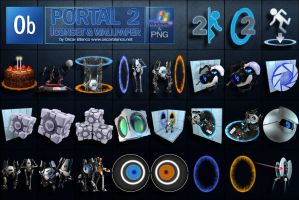 PORTAL 2 ICON SET WALLPAPERS by otas32