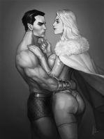 Emma Frost x Namor by TheBoyofCheese