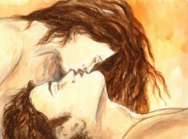 Edward and Bella - Golden Glow Love by LittleSeaSparrow