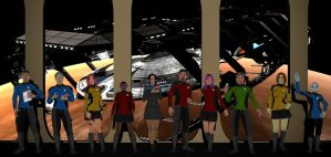 Crew of the U.S.S. Sentinel (NCC-28001-A) (W.I.P.) by Arthaniel82