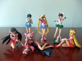 Sailor Senshi Figurenes by bittykitty