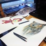 Drawing 3 drawings at once ( progress ) by AtomiccircuS