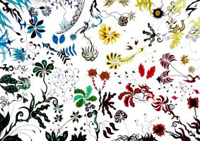 Multicolour Plants by Dessins-Fantastiques
