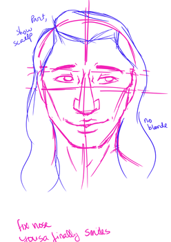 yosua finally smiles WIP  by AngelAxexinf