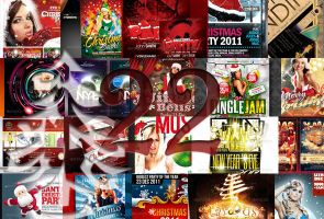 22 Festive Christmas and New Years Party Flyers by CursiveQ-Designs