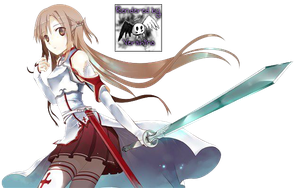 Sword Art Online Asuna Render by Vershino