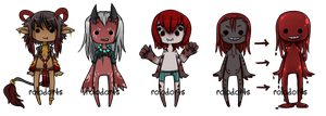 tiny red demons [closed] by DeadEndAdopts