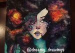 Galaxy Girl closeup by dreamy-drawings