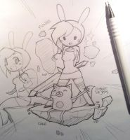 Fionna and Cake by Banzchan