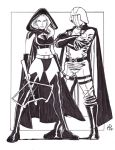 Cobra Commander and Cobra Scarlett by MichaelPowellArt