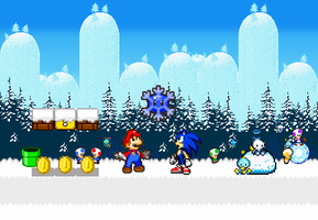 Mario and Sonic Winter Adventure by gold-ring-951
