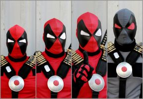 Many Faces of Deadpool by DPForPrez