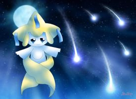 Jirachi - Raining Stars by Rose-Beuty
