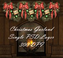 Christmas Garland PSD 300 DPI by briarmoon-stock