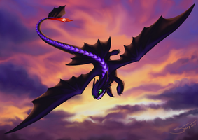 Toothless / Night Fury by Silartworks