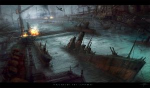 Ruined Shipyard by Hideyoshi