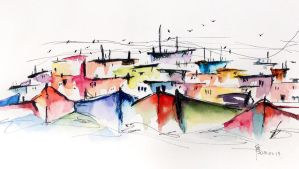 fishing village by young920