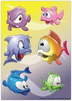 Toon Fishes 1 by Veinctor