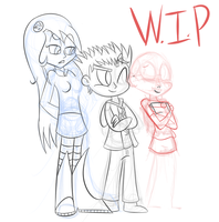 Redesigns for Pamela, A.I. and Mary by Superion123