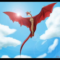 Crimson Dragon - Flying High by xiDragonx