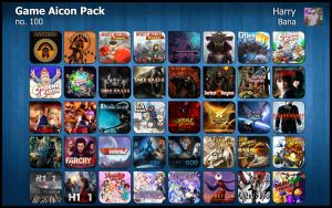 Game Aicon Pack 100 by HarryBana