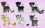 Kitty adopts batch 1 - 4/6 OPEN by SolarGem
