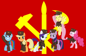 neigh Korea Mane six by BRONYVAGINEER